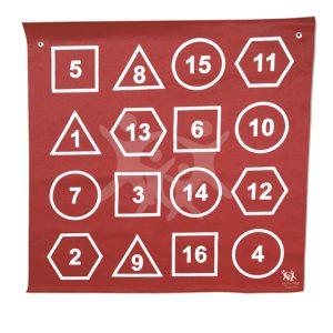 שטיח צורות ומספרים 1X1 מ'
