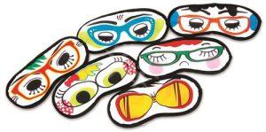 סט 6 כיסויי עיניים מצויירים