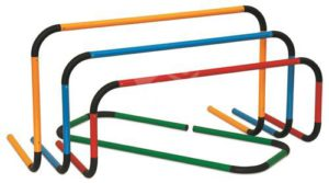 סט 4 משוכות מתכת מתקפלות - בצבעים שונים