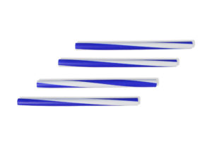 מקלות מקצב דקים- כחול לבן
